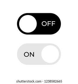 Vector switch button with on and off. Vector illustration. Designed for web and mobile apps