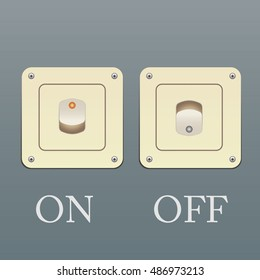 Vector switch. Switch icon. On/off icon.