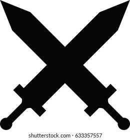 Vector swords clashing