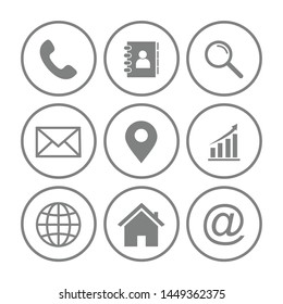 vector symbol contact us icon for mobile phone