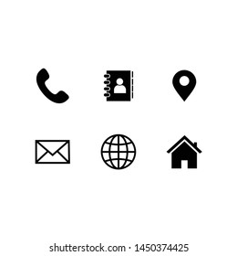 vector symbol contact us web icon set for mobile phone