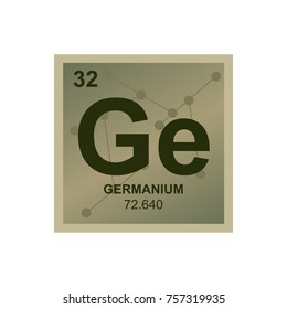 vector symbol of germanium from the periodic table of the elements on the background from connected - Periodic Table Chloride Symbol