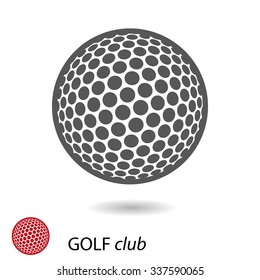 Vector symbol of golf ball
