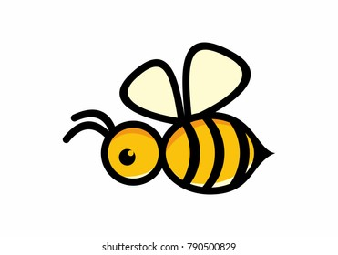 vector symbol honey bee simple