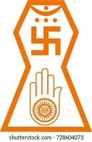 Vector symbol of Jainism religion