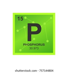 vector symbol of phosphorus from the periodic table of the elements on the background from connected - Periodic Table Chloride Symbol