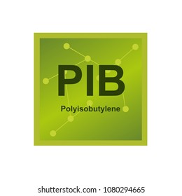 Vector symbol of Polyisobutylene (PIB) polymer on the background from connected macromolecules