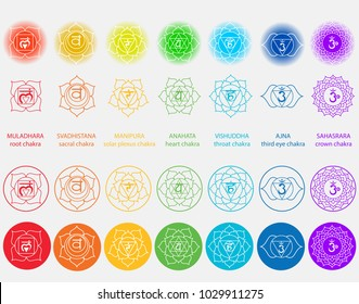 Vector symbol set of chakras. Solid character illustration of Hinduism and Buddhism. For design, associated with yoga and India.