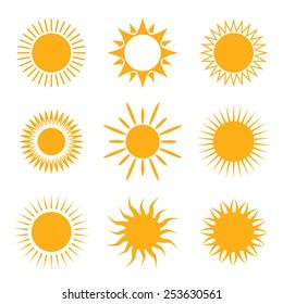 Vector symbol of sun