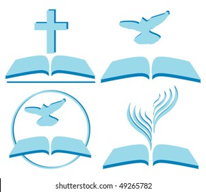 vector symbols of Christianity, several options