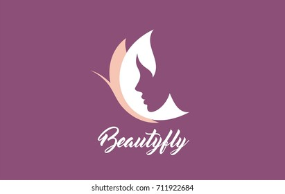 Vector of symbols and logo designs ideas with women portrait silhouettes. Elegant and classy graphics for spa, wellness, beauty salons and hair studios.
