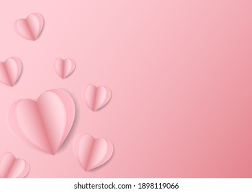 Vector symbols of love for Happy Women's, Mother's, Valentine's Day, birthday greeting card design on pink background.