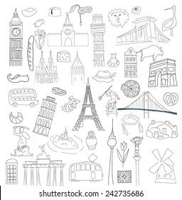 Vector symbols of many European countries