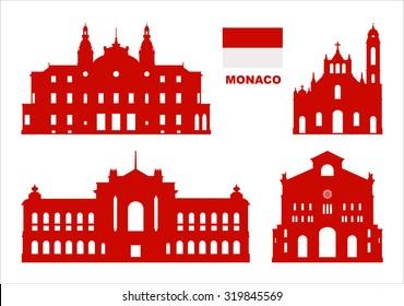 Vector symbols of Monaco.