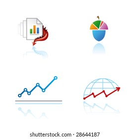 Vector symbols (signs, icons, logos) for the analytical industry or other