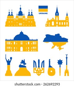 Vector symbols of Ukraine.