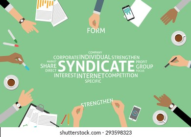 vector syndicate concept,template