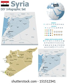 Syria Map Images Stock Photos Vectors Shutterstock