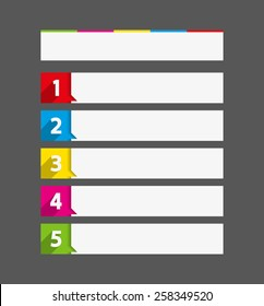 vector table contents useful template sequence rank list chart message style model trendy formal