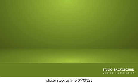 Vector table with Green carpet in the studio For making advertising media for selling products on the website.