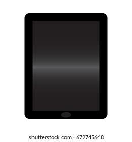 Vector tablet icon illustration