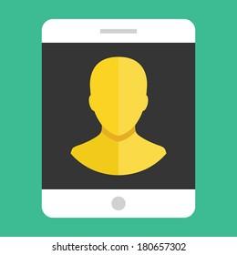 Vector Tablet User Profile Icon