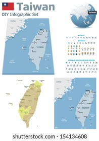 Taiwan Map Images Stock Photos Vectors Shutterstock