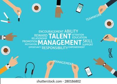 vector talent management concept, template