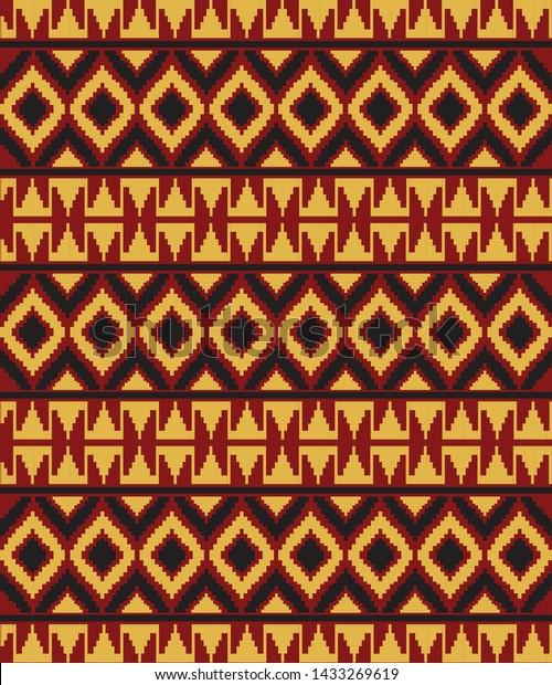 Vector Tapis Lampung Tapis Batik Artwork Stock Vector Royalty