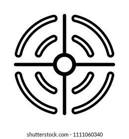 vector target aim illustration. success concept. goal symbol
