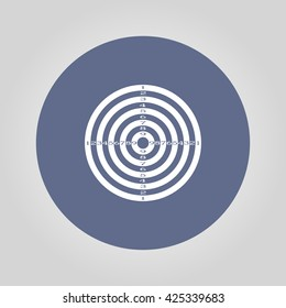 Vector target icon. Flat design style eps 10