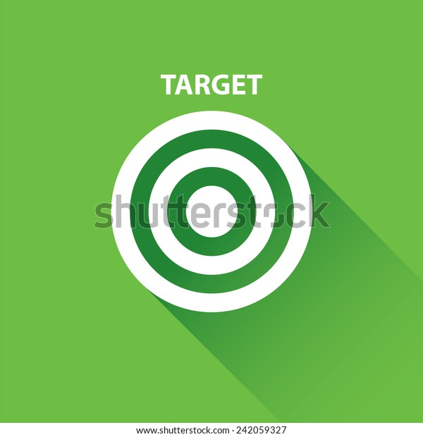 Vector Target Icons Vector Flat White Stock Vector Royalty