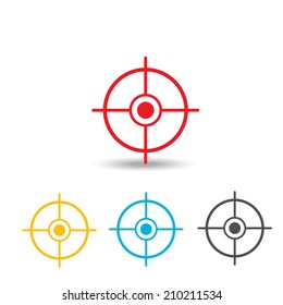 vector target icons set. logo design template