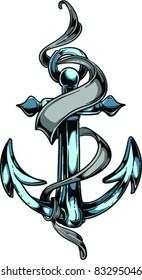 Vector Tattoo Anchor