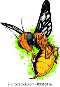 Vector Tattoo Bee