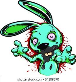 Vector Tattoo Creepy Bunny