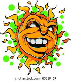 Vector Tattoo Evil Sun