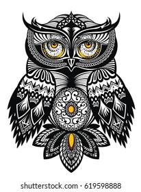 Vector Tattoo Owl
