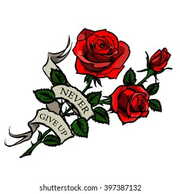 Rose With Thorns Tattoo Images Stock Photos Vectors Shutterstock