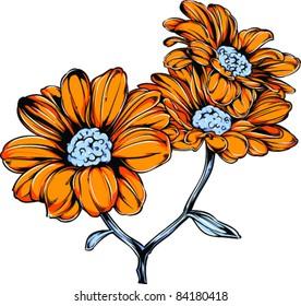 Vector Tattoo Sunflower