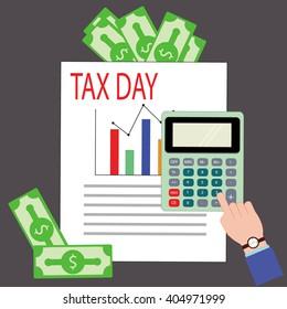Vector tax day design, vector illustration