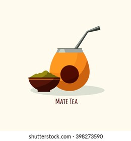 Vector tea icon in flat style.