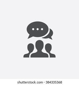 Vector team discussion Icon