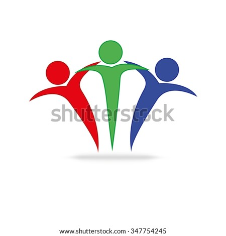 Vector Teamwork Concept Friendshipworkersunitysocial Networking Icon