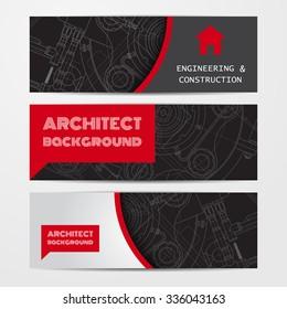 Vector technical blueprint of  mechanism. Engineer illustration. Set of corporate identity templates. Vector illustration. Eps10