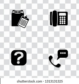 Vector technical customer center and service support icons set - communication icons. helpline or hotline assistant