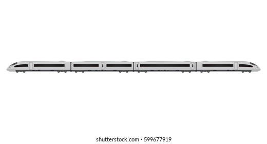 Vector technical illustration of speed train isolated on white