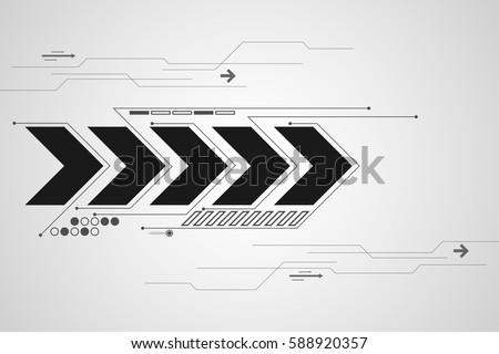 Vector Technology Arrow Design Stock Vector Royalty Free