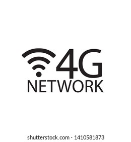 Vector technology icon network sign 4G. Illustration 4g internet symbol in flat line minimalism style. - Vector - Vector