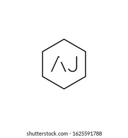 """vector technology logo with the initials """"AJ"""" which is clean and modern"""